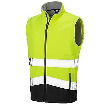 Result Safeguard Mens Printable Safety Softshell Gilet