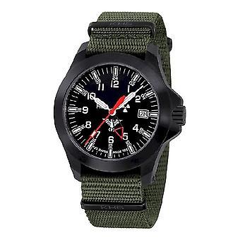 KHS horloges mens watch zwarte peloton GMT LDR KHS. BPGLDR.NO