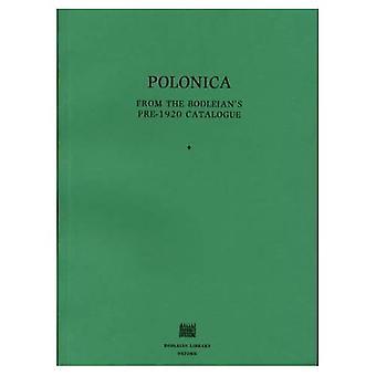 Polonica: de Catalogue avant 1920 de la bodléienne