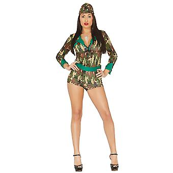 Womens Sexy Military Army Fancy Dress Costume
