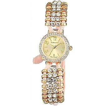 Excellanc 152404000039-wristwatch, fabric, color: pink