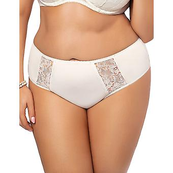 Gorsenia K484 Femmes-apos;s Peony Ecru Off White Lace Knickers Panty Full Brief