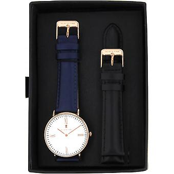 Black Oak BX5720RSET-003 - watch leather blue woman