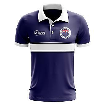 Australia Concept Stripe Polo Shirt (Navy)-Kids