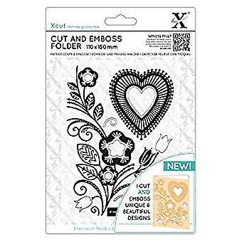 Xcut Cut & Emboss Folder Folk Heart