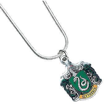 Harry Potter argento placcato collana di cresta di Slytherin