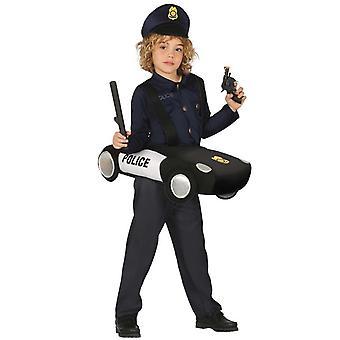 Boys Ride In Police Car Fancy Dress Costume