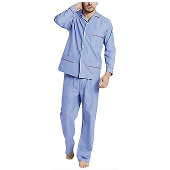 British Boxers Burford Stripe Pyjamas - Blue/White