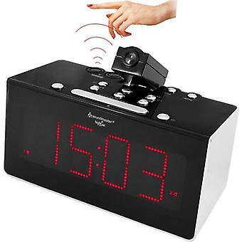 soundmaster FUR6005 راديو المنبه ساعة FM الأسود