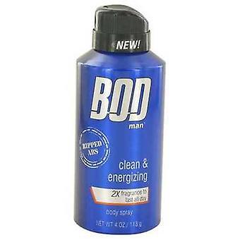 Bod man echt geript abs door parfums de Coeur parfum lichaam Spray 4 oz (mannen) V728-527851