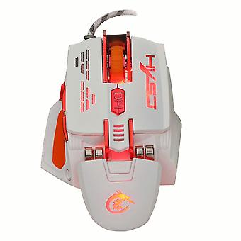 HXSJ X 200 7 buttons 4000 DPI LED USB Optical Gaming mouse White