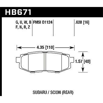 Hawk prestaties HB671F. 628 HPS