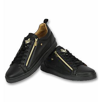Shoes - Sneaker Bee Black Gold - Black