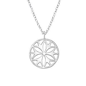 Çiçek - 925 Gümüş Düz Kolye - W36306x