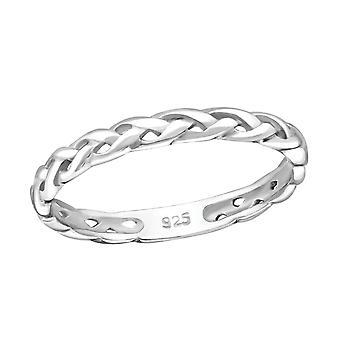 Köysi - 925 Sterling Hopea Plain Rings - W3922x