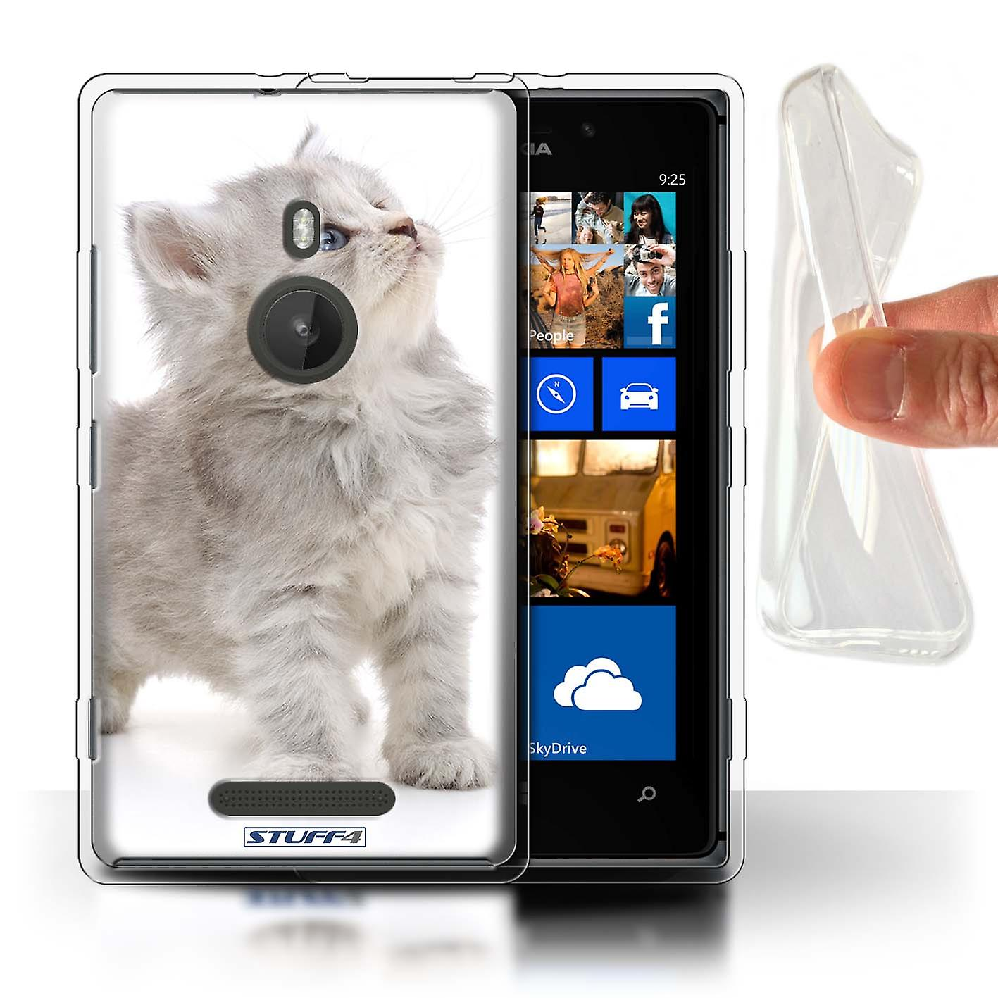 STUFF4 Gel TPU Case/Cover for Nokia Lumia 925/Looking Up/Cute Kittens