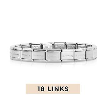 Nomination Classic 18 Link Composable Silver Steel Starter Bracelet 030000/SI/18