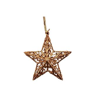 Gisela Graham Chocolate Glitter Star Dec