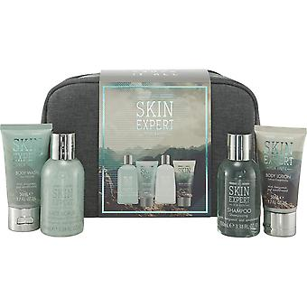 Style & Grace Skin Expert The Travellers Bag - 100ml Face Scrub, 100ml Shampoo, 50ml Body Wash, 50ml Body Lotion and Toiletry Bag