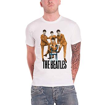 The Beatles logo Chair fab four new Official Mens White T Shirt