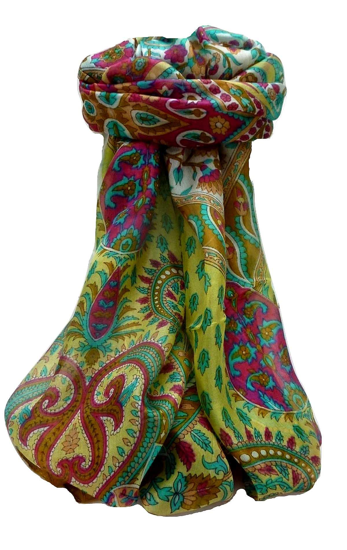 Mulberry Silk Traditional Long Scarf Dasari Chestnut by Pashmina & Silk