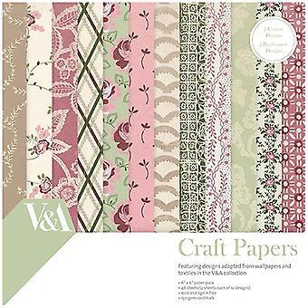 V & amp; Een papier Pack 6 in x 6 in FSC Chintz weefsel en Lace patronen | 48 vellen