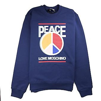 Love Moschino Paz Love Sudadera Azul