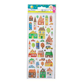 Craft Planet Fun Stickers - Houses & Cars