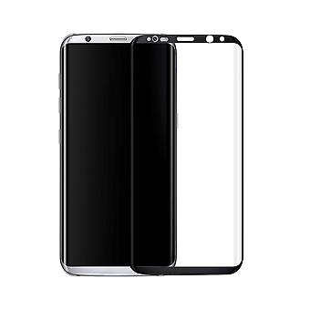 Samsung Galaxy S8 + pluss 3D pansrede glasset folie skjerm 9 H beskyttende film dekker tilfellet svart