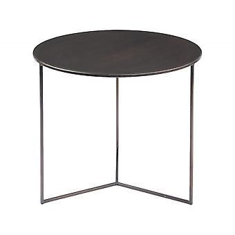 Libra Furniture Circular Bronze Large Side Table