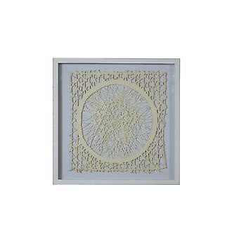 Caja de sombras de recorte de papel blanco y natural