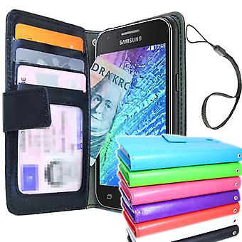 Samsung Galaxy J1 Wallet Case ID/foto Pocket + Screen Protector