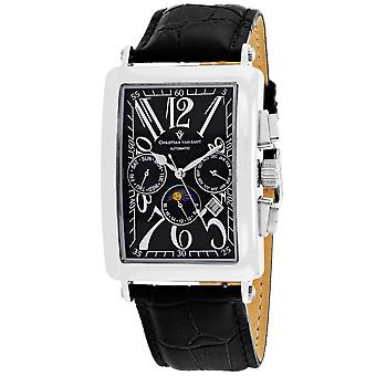 Christian Van Sant Men-apos;s Prodigy Black Dial Watch - CV9130