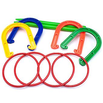 Plastic Horseshoe and Ring Toss Game Set (2 in 1)