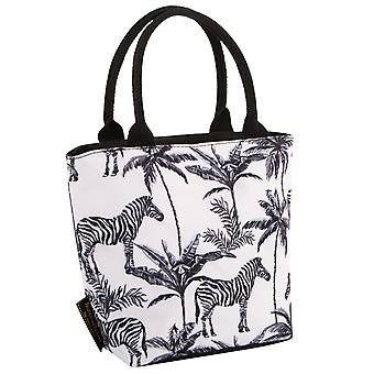 Navigate Madagascar Lunch Tote, Zebra Palm