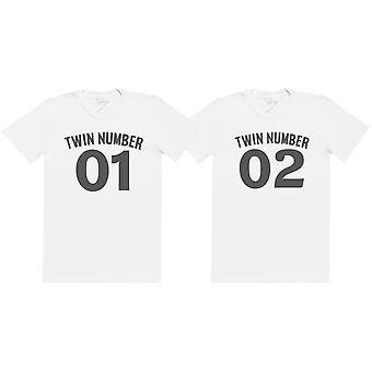 Twin Number 1, Number 2 - Twin Set - Mens T-Shirts - (Sold Separately)