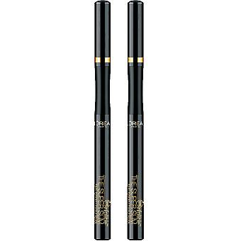 L'Oreal Paris The Super Slim Eyeliner 'Black' .034oz/1ml (Pack of 2)