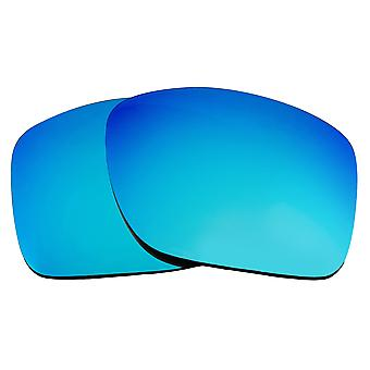 SEEK Replacement Lenses Compatible for Oakley TURBINE Non-Polarized Blue Mirror