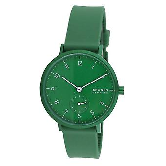 Skagen Women's Watch Wristwatch Aaren Silicone Green SKW2804