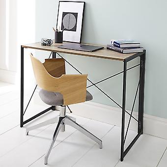 Mesa plegable en polvo negro