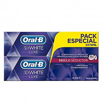 Oral B 3D Toothpaste White Luxe Seductive Gloss 2x75 ml