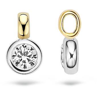 Blush 60679BZI pendant - White gold/ b l re yellow gold and zirconium oxide 6 mm set closed Woman