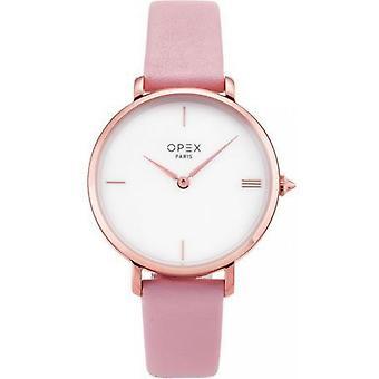 Opex OPW033 Watch - ROTONDE Leather Bracelet Pink Bo Tier Steel Dor Pink Women