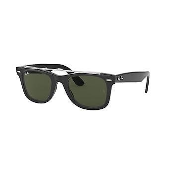 Ray-Ban Wayfarer Doublebridge RB4540 601/31 Black/Green Sunglasses