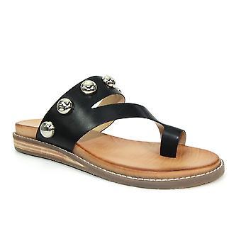 Lunar Iva Studded Leather Sandal