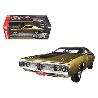 1971 Dodge Charger R/T 440 Six Pack 50th Anniversary GY8 Metallic Gold Limited Edition bis 1002pc 1/18 Diecast Modellauto von Autoworld