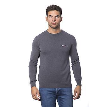Grey pullover Roberto Cavalli man