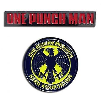 Pin Set - One-Punch Man - Logo & Hero Association (Set of 2) ge50671