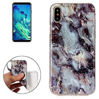 Für iPhone XS, X Zurück Fall, Marmor hochwertige langlebige Schutzhülle, braun