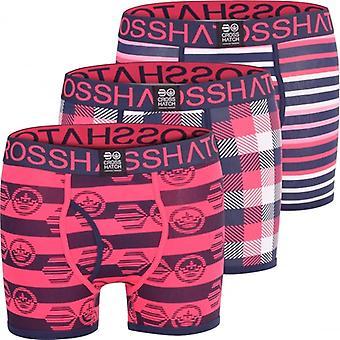 Crosshatch 3 Pack Mens Crosshatch Designer Boxer Shorts Boxers Underwear Trunks Gift Set